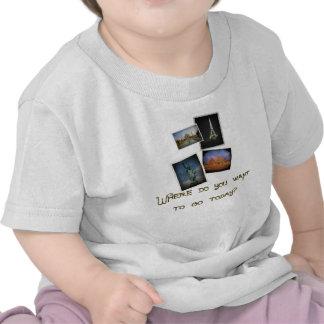Onde você quer ir? camiseta