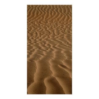 Ondinhas da areia cartão com foto