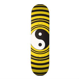 Ondinhas do preto do amarelo do símbolo de Yin Shape De Skate 19,7cm