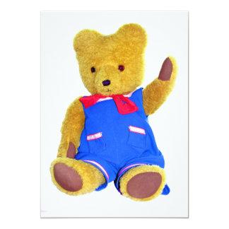 Ondulação do urso de ursinho convite 12.7 x 17.78cm