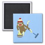 Ondulação olímpica do macaco da peúga imãs