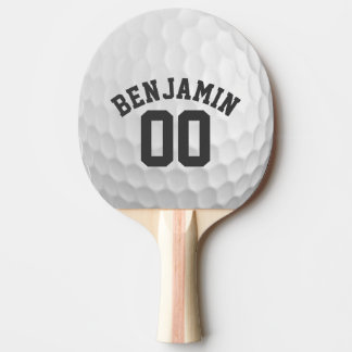 Ondulações da bola de golfe com número conhecido raquete de pingpong