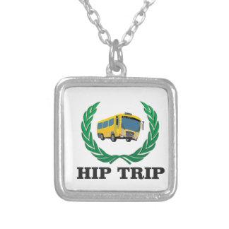 ônibus anca da viagem colar banhado a prata
