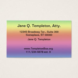 Ônibus. Cartão - fundo do arco-íris