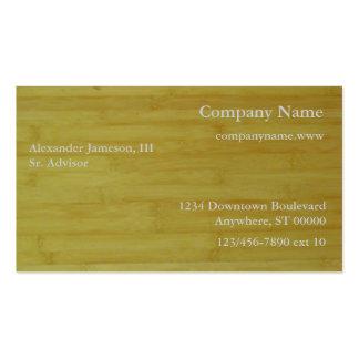 Ônibus. Cartão - os conselhos de bambu Cartão De Visita