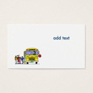 ônibus com alunos cartão de visitas