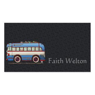 Ônibus de excursão bonito do ônibus cartões de visita
