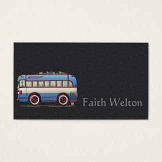 Ônibus de excursão bonito do ônibus cartão de visitas