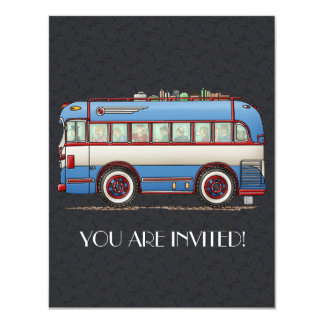 Ônibus de excursão bonito do ônibus convite 10.79 x 13.97cm