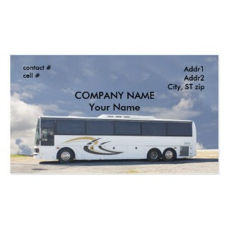 ônibus de excursão branco cartão de visita