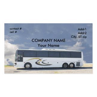 ônibus de excursão branco modelo cartoes de visitas