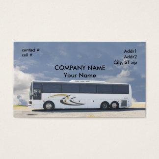 ônibus de excursão branco cartão de visitas
