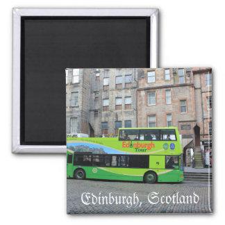 Ônibus de excursão de Edimburgo, Scotland Ímã Quadrado
