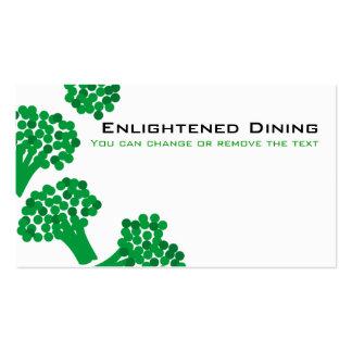 ônibus de jardinagem de jantar saudável vegetal do cartao de visita
