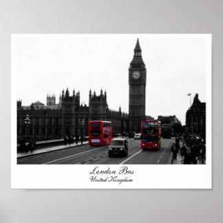 Ônibus de Londres, Big Ben e as casas do Pôster