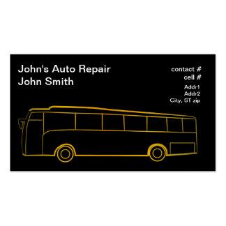 Ônibus do esboço do ouro grande cartao de visita