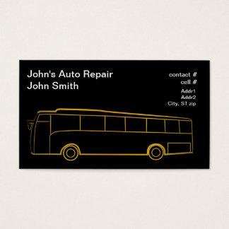 Ônibus do esboço do ouro grande cartão de visitas