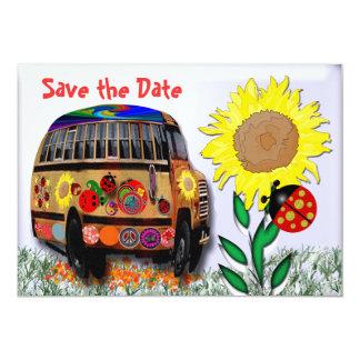 Ônibus do joaninha convite 12.7 x 17.78cm