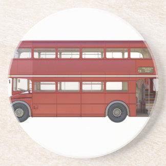 Ônibus do vermelho do autocarro de dois andares porta-copos de arenito