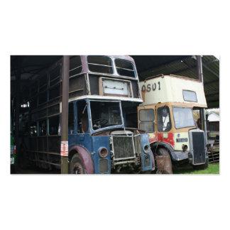 Ônibus do vintage na estação de Lydeard dos Bishop Cartão De Visita