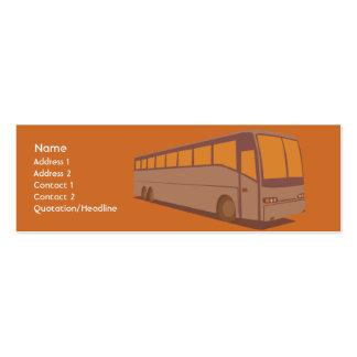 Ônibus - magro cartoes de visitas