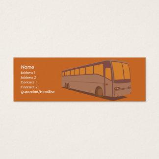 Ônibus - magro cartão de visitas mini