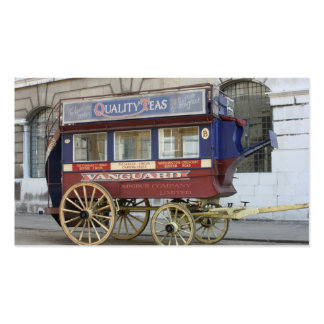 Ônibus puxado a cavalo do vintage Londres Cartao De Visita