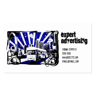 Ônibus retro modelos cartões de visita