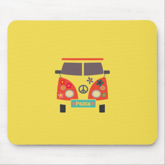 Ônibus retro Mousepad do Hippie