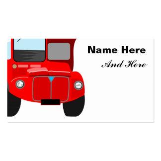 Ônibus vermelho cartão de visita