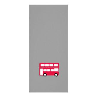 Ônibus vermelho grande 10.16 x 22.86cm panfleto