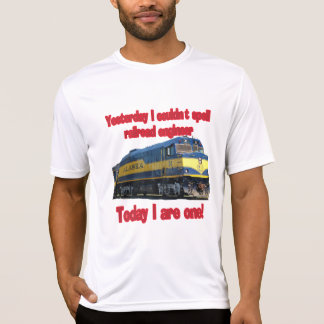 Ontem eu não poderia soletrar o engenheiro camiseta