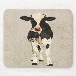 Onyx & Ivory Cow Mousepad