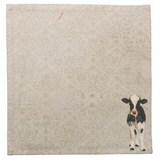 Onyx & Ivory Cow Napkin