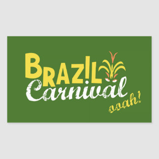Ooah do carnaval de Brasil! Adesivo Retangular