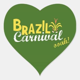 Ooah do carnaval de Brasil! Adesivo Coração