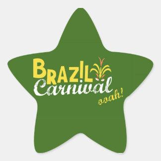Ooah do carnaval de Brasil! Adesivo Estrela