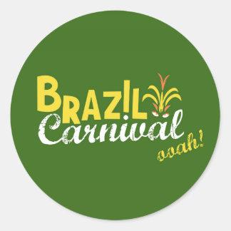 Ooah do carnaval de Brasil! Adesivos Em Formato Redondos