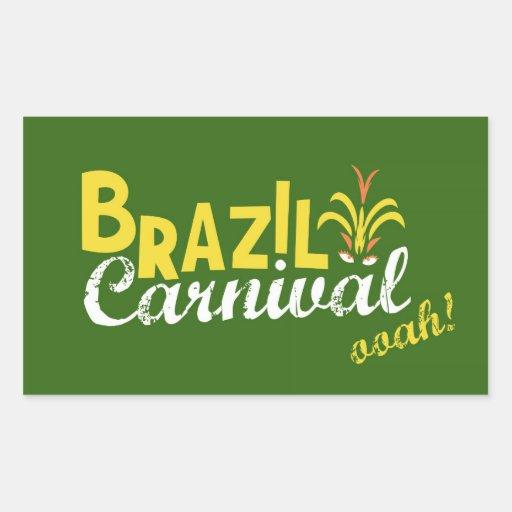Ooah do carnaval de Brasil! Adesivo Em Forma Retangular
