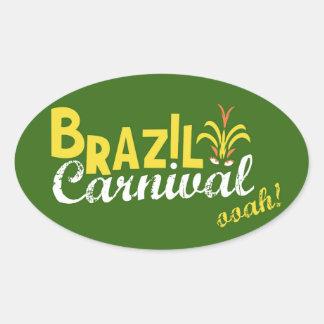 Ooah do carnaval de Brasil! Adesivos Ovais