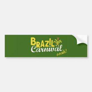 Ooah do carnaval de Brasil! Autocolante no vidro
