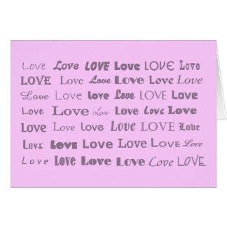 Oodles do amor cartão comemorativo