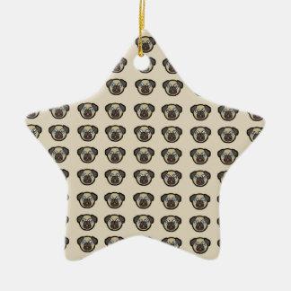 Oodles dos Pugs Ornamento De Cerâmica