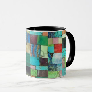 Opal de turquesa da caneca do mosaico do olhar do