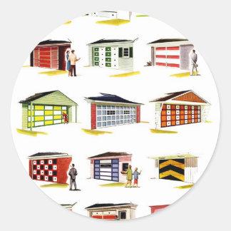Opções retros da porta da garagem de Sunurbs do Adesivo