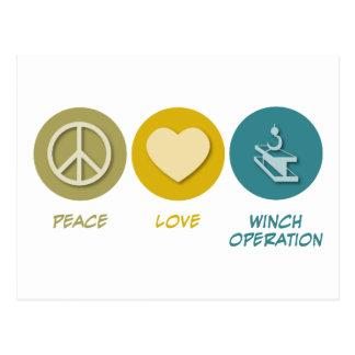 Operação do guincho do amor da paz cartões postais