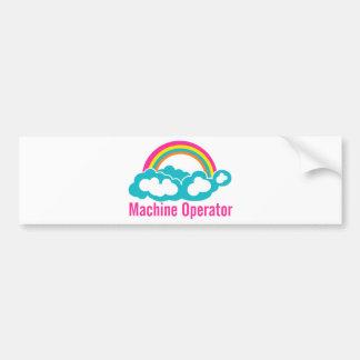 Operador de máquina do arco-íris da nuvem adesivo