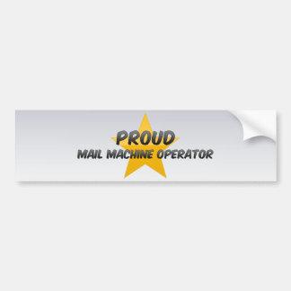 Operador de máquina orgulhoso do correio adesivos