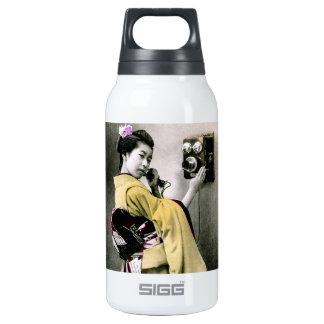 Operador você não me ajudará a fazer esta gueixa garrafa de água térmica