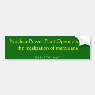 Operadores de central nuclear para a legalização adesivo para carro